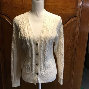 Karen Scott button up Sweater.